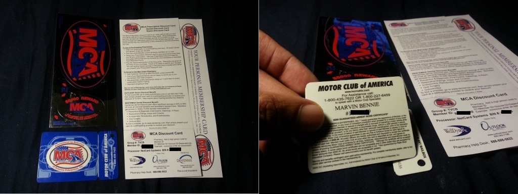 Motor Club of America Membership Packet